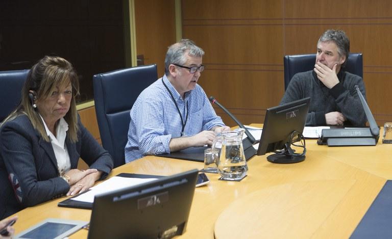 Langune en la Comisión de Desarrollo económico e infraestructuras de Parlamento Vasco